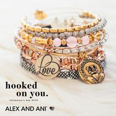 Valentine's Day 2016 Hooked on You Collection by Alex and Ani #ValentinesDay #alexandani #love