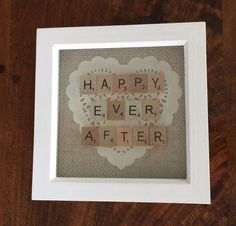 Wedding Word Art Scrabble Frame Picture by FabFramesbyFrancine