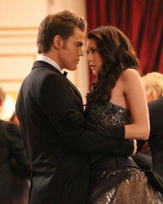 Paul Wesley and Nina Dobrev in The Vampire Diaries (2009)