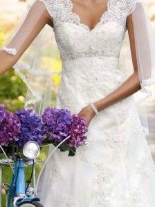 Illusion Sleeve Wedding Gown