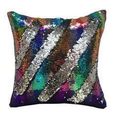 NICE Magic réversible Emoji Sirène Paillettes Housse de Coussin Canapé Throw Pillow Case