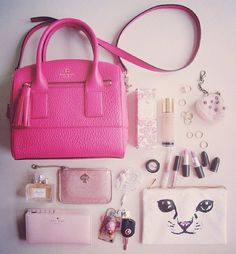What's in your bag? This is the pinkest, girliest thing I've ever seen. I don't…