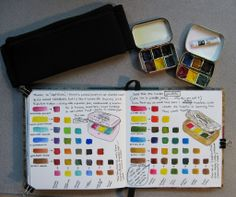 art journaling paint colors | Vicky L. Williamson