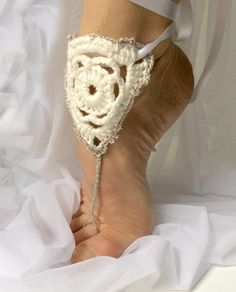 Crochet Summer Sandals. uncinetto Scarpe Estate