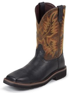 Justin Boots Justin Black Oiled Style Men Boots WK4816