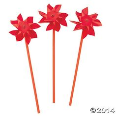 Color Rojo - Red!!! pinwheels