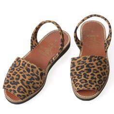 Leopard Nubuck Sandals - Varca - Menorcan Sandals