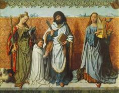 MASTER of the St. Bartholomew Altar St Agnes, St Bartholomew and St Cecilia Wood, 129 x 161 cm Alte Pinakothek, Munich St Catherine Of Alexandria, Sainte Cecile, Baptism Of Christ, St Agnes, London Attractions, Museum, Sacred Art, The St, 16th Century
