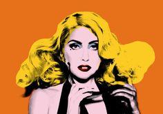 Antes de ser ser conocida como Lady Gaga, se hacía llamar Candy Warhol, como tributo al artista pop que más ha inspirado su carrera.