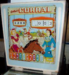 1961 Gottlieb Corral pinball
