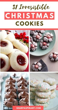 Perfect for your Christmas cookie exchanges, holiday gatherings. Try these recipes from gingerbread cookies, sugar cookies to chocolate cookies and everything in between! Christmas Cookie Exchange, Christmas Sweets, Christmas Cooking, Holiday Baking, Christmas Desserts, Christmas Goodies, Christmas Candy, Candy Recipes, Baking Recipes
