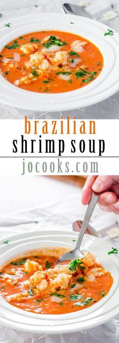 Brazilian Shrimp Soup #seafoodrecipes