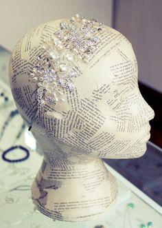 stunning crystal bridal side tiara 2013  by Lily Luna Edinburgh Jewellery Boutique