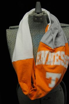 University of Tennessee Upcycled T-Shirt Infinity Scarf Tennessee Volunteers Football, Tennessee Football, University Of Tennessee, Tennessee Game, Ut Game, Tn Vols, Orange Fashion, Tailgating, Scarfs