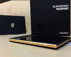 The network has a photo of the golden BlackBerry Passport Blackberry Phones, Blackberry Passport, Blackberry Z10, Tech Gadgets, Cool Gadgets, Wi Fi, Android Smartphone, Black Gold, Product Launch