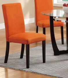 Dining Chair in Tangerine Finish by Poundex (Set of 2) Poundex http://www.amazon.com/dp/B00FQ11UKC/ref=cm_sw_r_pi_dp_Uaaqwb08J3WDA