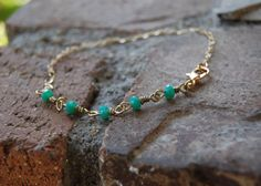 Five Smooth Stones Bracelet Turquoise by TheseJoyfulAches on Etsy