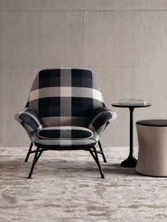 PRINCE - Designer Armchairs from Minotti ✓ all information ✓ high-resolution images ✓ CADs ✓ catalogues ✓ contact information ✓ find your. Chair And Ottoman, Sofa Chair, Desk Chairs, Lounge Chairs, Side Chairs, Dining Chairs, Sofa Furniture, Furniture Design, Plaid Chair