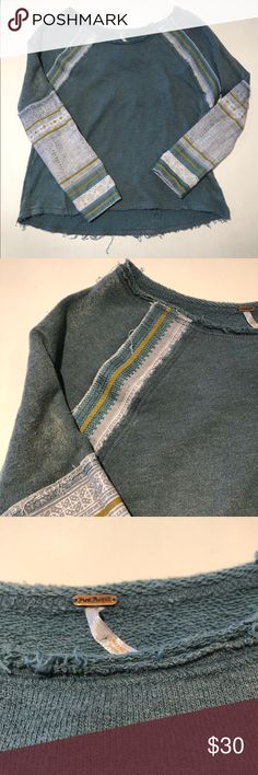 Free People Top Free people patchwork top  ..  C3696-3 Free People Sweaters
