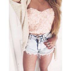 crop tops top pink floral shirt pink shirts rose floral shirt shorts