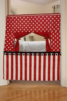 Sewing idea for doorway puppet theater