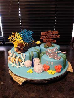 Scuba ocean underwater cake