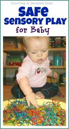 Baby safe sensory play