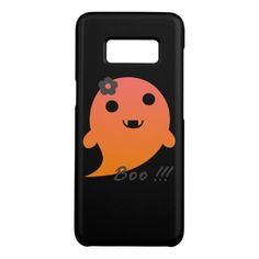 """Cute  Ghost With Flower And Word """"Boo"""" Case-Mate Samsung Galaxy S8 Case - flower gifts floral flowers diy"""