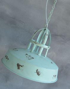 Hanglamp Industrieel Blauw