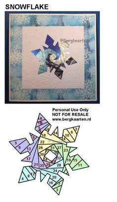 Irisvouwen: Snowflake