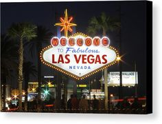 Welcome To Las Vegas Canvas Print featuring the photograph Welcome To Las Vegas by Mike McGlothlen