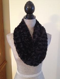 Luxury Plush Infinity Scarf in Coal Black: $20.00   This scarf is made from a soft plush fabric that layers beautifully and feels gentle against the skin. It is also slightly longer than our regular infinity scarves. Infinity, Layers, Feels, Scarves, Plush, Luxury, Fabric, Beauty, Black