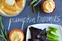 Pumpkin Sage Hummus! Yeah, we made that.