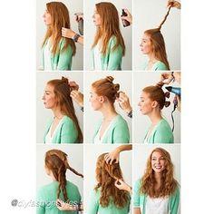 """DIY hair. by @diyfashionstyles """"This is how you can get nice wavy hair :) #howto#diy#diyproject#makeityourself#stepbystep#doityourself#diys#tutorial#diytutorial#diyideas#adorable#diyproject#project#makeit#instahair#hair#braid#hairstyle#hairdiy#beautydiy#beauty#hairfashion#braids#pictorial#hairfashion#instahair#instabraid#hairdo#hairtutoria"""