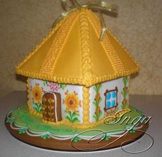 Christmas Gingerbread House, Gingerbread Houses, Gingerbread Cookies, Cookie Cottage, Cookie House, Ukrainian Recipes, 3d Shapes, Cooking, Summer