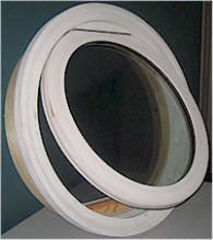Nu Englander Round And Oval Decorative Specialty Windows    With Have  Grille Made