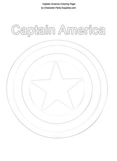captain america shield coloring pages | Captain America Birthday Party Supplies, Decorations for Theme Parties ...