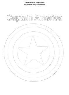 DIY Captain America Shield Free Printable Captain america shield