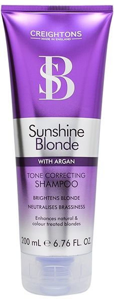 Creightons Silver Purple Blonde Bleached White Hair Shampoo Toner with Argan Oil
