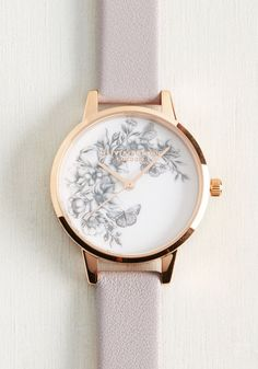 While some may feel daunted by the tick tock of the clock, you feel that every second spend with this Animal Motif Butterflies watch by Olivia Burton is a total thrill. Pretty and punctual with with its hand-illustrated butterflies and flowers, rose gold accents, and lilac leather band, this wristwatch fell into your life not a moment too soon!