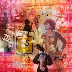 Spirit of Chanel - 95 x 95 cm - Digigraphie originale sur toile