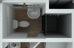 Container house tiny bathroom. On demand tankless water heater behind shower wall? Mama like.