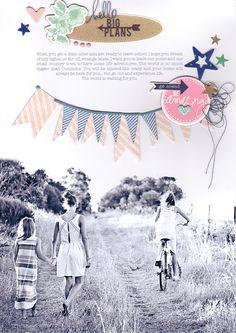 Heidi + Becky Projects – Amanda Hall #scrapbook