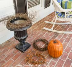 Outside Fall Decorations, Fall Yard Decor, Outdoor Decorations, House Decorations, Seasonal Decor, Fall Containers, Succulent Containers, Container Plants, Container Flowers