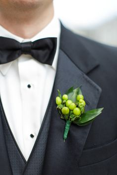 A boutonnière (French: [butɔnjɛʁ]) is a floral decoration, typically a single flower or bud, worn on the lapel of a tuxedo or suit jacket. While worn frequently in the past, boutonnières are now usually reserved for special occasions for which formal wear is standard, such as at proms, homecomings.