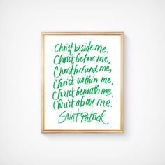 Hand-lettered St. Patrick Quote Printable