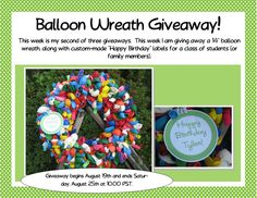 Balloon Wreath Giveaway for Celebrating Student Birthdays - Teaching The Little People
