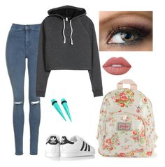 """""""School Outfit"""" by itsalexis22 on Polyvore featuring Topshop, adidas Originals, Cath Kidston and Lime Crime"""