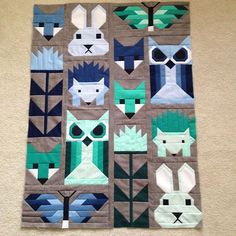 Fancy Forest baby quilt @jkimr