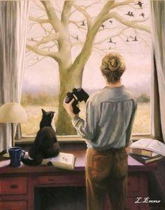 Becuzz we like to bird watch;) @Kira Neal sidhu #Simran / arts and illustrations